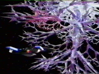 Crystalline entity that absorbed all life energy from entire planets