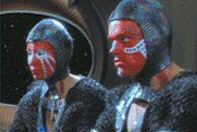 Inglatu and his assistant Zyree - Dosi who negotiate with Quark and Pel - Brian Thompson and Emilia Crow