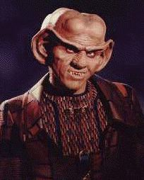 Quark - Ferengi who is owner of the bar on the prominade of Deep Space Nine - Armin Shimmerman