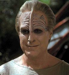 One of the Sky Spirit people who spoke to Chakotay -Richard Fancy