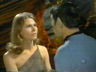 Zarabeth - prisoner in planet Sarpeidon's ice age past - Mariette Hartley