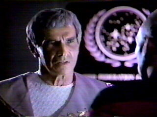 Ambassador Sarek - confronted with the fact that he has Bendi syndrome - Mark Lenard